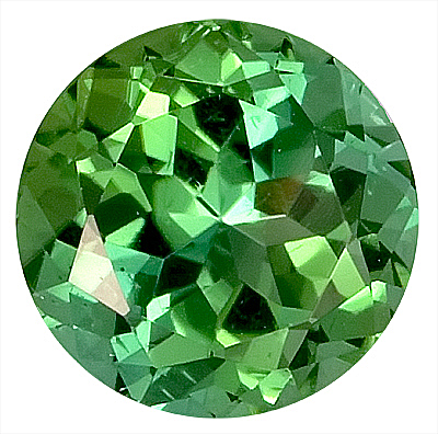 Fantastic Green Tourmaline Natural Gemstone for SALE,  Round Cut, 8.2 x 8.2 mm, 2.43 carats