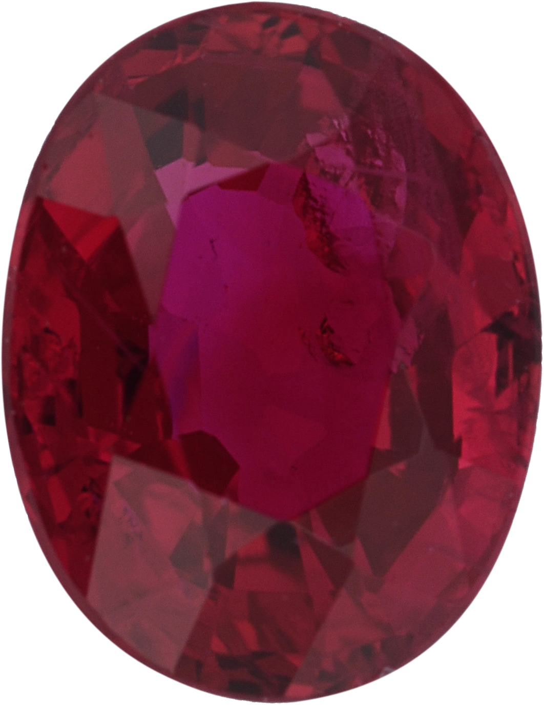 Fantastic Loose Ruby Gem in Oval Cut,  Red Color, 6.56 x 5.09 mm, 1.05 carats