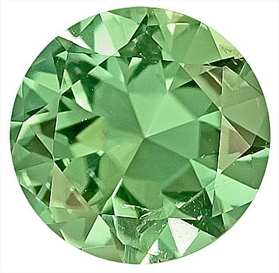 Fantastic Mint Green Tourmaline Natural Gemstone for SALE,  Round Cut, 8.5 x 8.5 mm, 2.01 carats