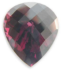 Fantastic Untreated Raspberry Rhodolite Garnet Gemstone, Pear Cut, 14.49 carats
