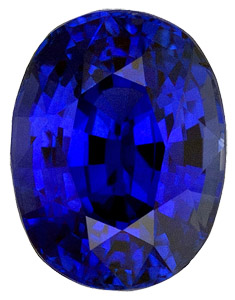 Fantastic Vivid Rich Blue Sapphire - Excellent Cut & Clarity - Very Beautiful, Oval Cut, 2.41 carats