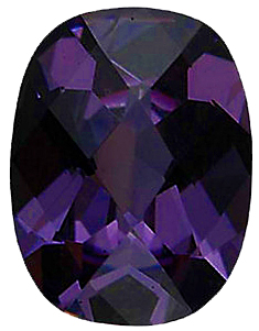 Faux Faceted Antique Cushion Shape  Purple Amethyst Gem Sized 8.00 x 6.00 mm