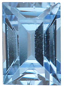 Faux Faceted Cushion Shape Standard Size Aquamarine Blue Gem Sized 7.00 x 5.00 mm