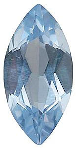 Faux Faceted Marquise Shape Standard Size Aquamarine Blue Gem Sized 15.00 x 7.00 mm