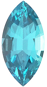 Faux Faceted Marquise Shape Standard Size Blue Zircon Gem Sized 5.00 x 3.00 mm