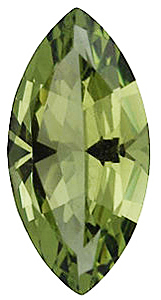 Faux Faceted Marquise Shape Standard Size Peridot Green Gem Sized 6.00 x 3.00 mm
