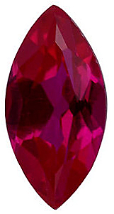 Faux Faceted Marquise Shape Standard Size Red Ruby Gem Sized 12.00 x 6.00 mm