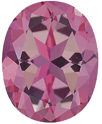 Faux Faceted Oval Shape Standard Size Tourmaline Pink Gem Sized 8.00 x 6.00 mm