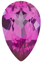 Faux Faceted Pear Shape Standard Size Tourmaline Pink Gem Sized 5.00 x 3.00 mm