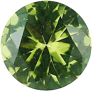 Faux Faceted Round Shape Standard Size Peridot Green Gem Sized 1.75 mm