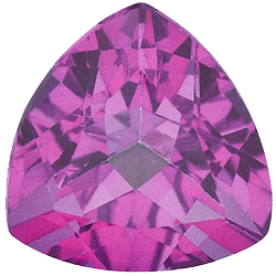 Faux Faceted Trillion Shape Standard Size Tourmaline Pink Gem Sized 4.00 mm