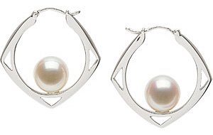 Fetching 8mm Freshwater Cultured Pearl Earrings in Sterling Silver