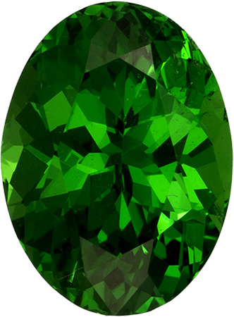 Fiery Garnet Green Tsavorite Natural Gemstone in Oval Cut, 6.8 x 5.1 mm, 1.03 Carats - SOLD