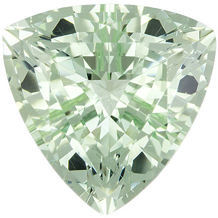 Fiery Mint Green Beryl No Heat Loose Gem in Trillion Cut in 8.8 mm, 2.06 carats