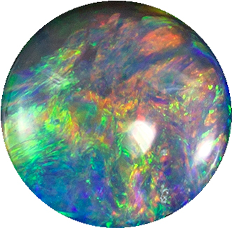 Genuine Black Opal from Lightning Ridge Pure Gem, All Colors, Stunning Gem in Round Cut, 5.90 mm, 0.79 carats