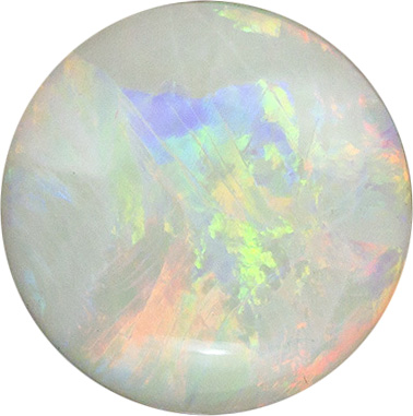 Fiery Opal Loose Gem in Round Cut, All Colors, 7 mm, 0.72 carats