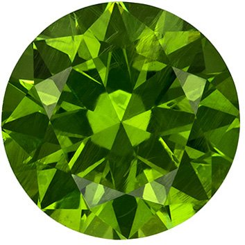 Fiery Russian Demantoid Garnet Round Cut Loose Gem, Intense Grass Green, 6.5 mm, 1.35 carats - SOLD