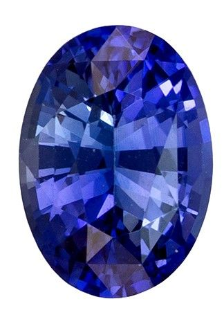 Fiery Stunning 0.99 carats Sapphire Genuine Gemstone in Oval Cut, Rich Blue, 7 x 5 mm