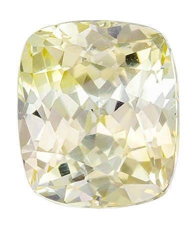 Fiery Stunning 6 x 5 mm Sapphire Loose Gemstone in Cushion Cut, Vivid Yellow, 1.08 carats