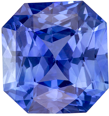 Fiery Stunning GIA Certified 11.2 x 10.6 mm Sapphire Loose Genuine Gemstone in Radiant Cut, Medium Blue, 6.13 carats