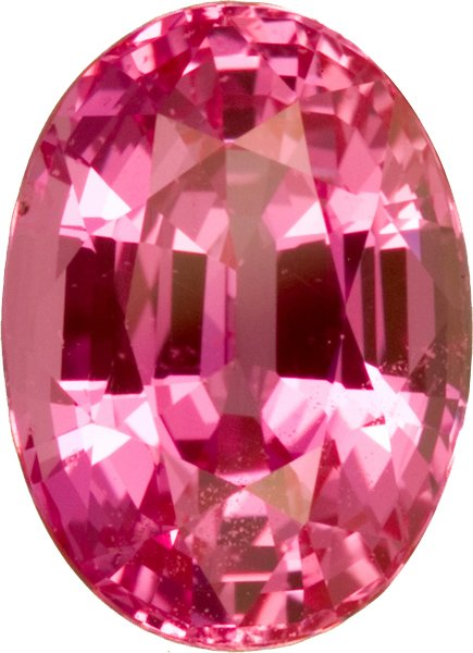 Fine Color & Cut in AGTA Certified Pink Sapphire Loose Gem in Oval Cut, Intense Pink, 9.6 x 6.9 mm, 3.18 carats