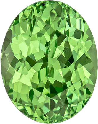FINE Large Mint Green Loose Garnet in Oval Cut, Neony Mint Green Color in 8.3 x 6.6 mm, 2.21 carats