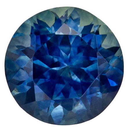 Fine Loose 0.78 carats Sapphire Loose Gemstone in Round Cut, Teal Blue, 5.2 mm