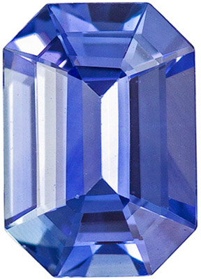 Fine Loose 0.96 carats Sapphire Loose Gemstone in Emerald Cut, Intense Blue, 7 x 5 mm
