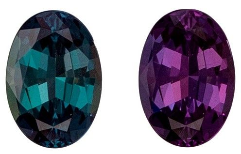 Fine Loose 6.1 x 4.3 mm Natural Fine Alexandrite Gemstone in Oval Cut, Rich Teal to Burgundy Eggplant, 0.55 carats