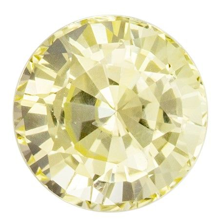 Fine Loose GIA Certified 2.25 carats Sapphire Genuine Gemstone in Round Cut, Colorless White, 7.5 x 7.6 mm