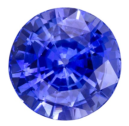 Fine Natural 3.04 carats Sapphire Loose Genuine Blue Gemstone in Round Cut, Intense Blue Color in 8.4 mm Size