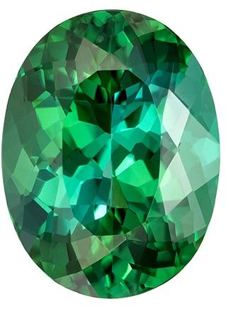 Fine Natural 4.66 carats Tourmaline Genuine Gemstone in Oval Cut, Blue Green, 12.2 x 9.2 mm
