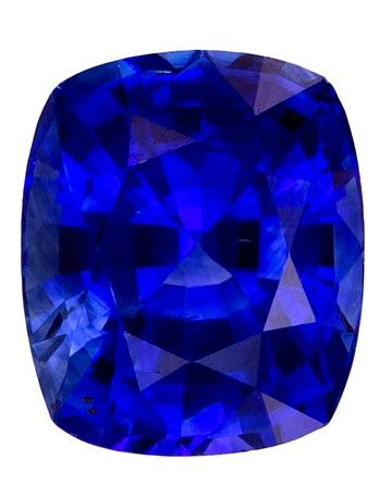Fine Natural 5.7 x 4.8 mm Sapphire Loose Genuine Gemstone in Cushion Cut, Rich Blue, 0.83 carats