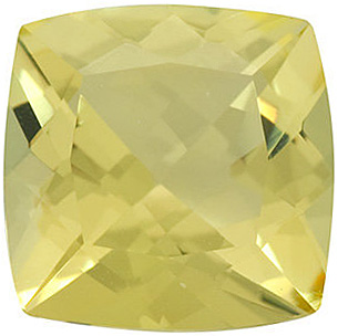 Fine Natural Calibrated Antique Square Shape Checkerboard Lemon Quartz Gem Grade AA, 12.00 mm in Size, 7.4 Carats