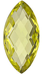 Fine Natural Calibrated Marquise Shape Double Sided Checkerboard Lemon Quartz Gem Grade AA, 20.00 x 10.00 mm in Size