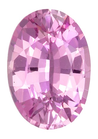 Fine Natural GIA Certified 1.19 carats Sapphire Genuine Gemstone in Oval Cut, Vivid Pink, 7.8 x 5.4 mm