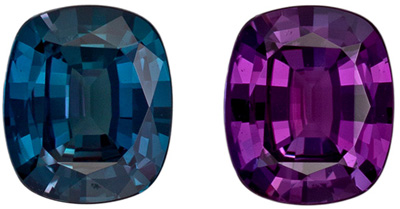 Fine Quality Alexandrite Cushion Cut Loose Gemstone Teal to Burgandy, 4.9 x 4.2 mm, 0.4 carats