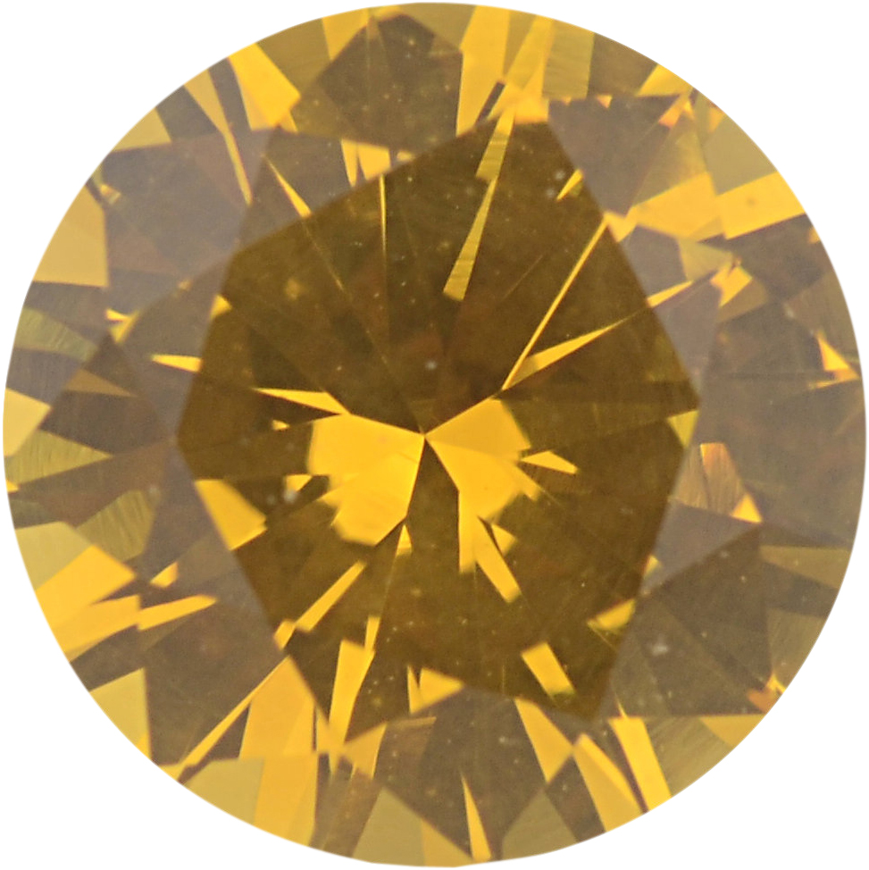 Fine Sapphire Loose Gem in Round Cut, Light Orangy Yellow, 6.88 mm, 1.41 Carats