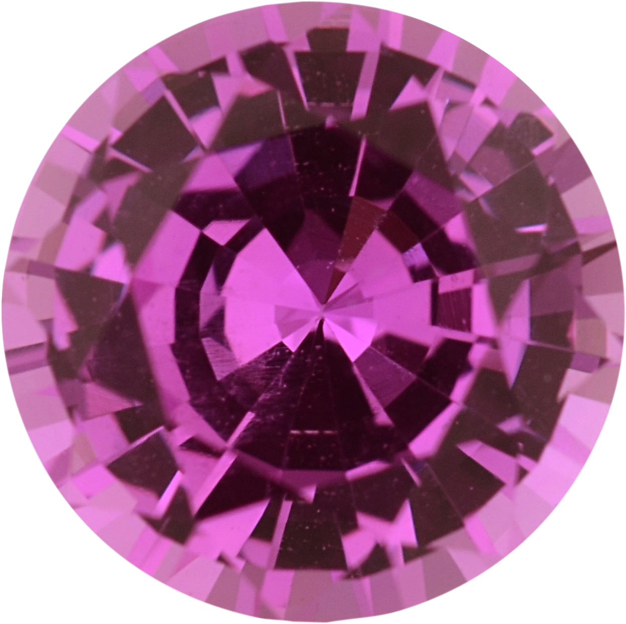 Fine Sapphire Loose Gem in Round Cut, Light Red Purple Or Purple Red, 6 mm, 0.96 Carats