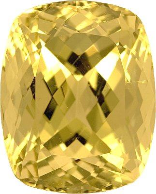 Finest Impressive Unheated Yellow Beryl Gemstone - Great Centergem in Antique Cushion Cut, 25.85 carats