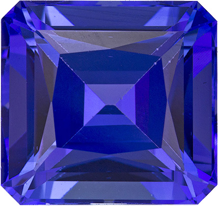 Finest Vivid Tanzanite Best Color in Square Cut, 10.2 x 9.6 mm, 5.71 carats