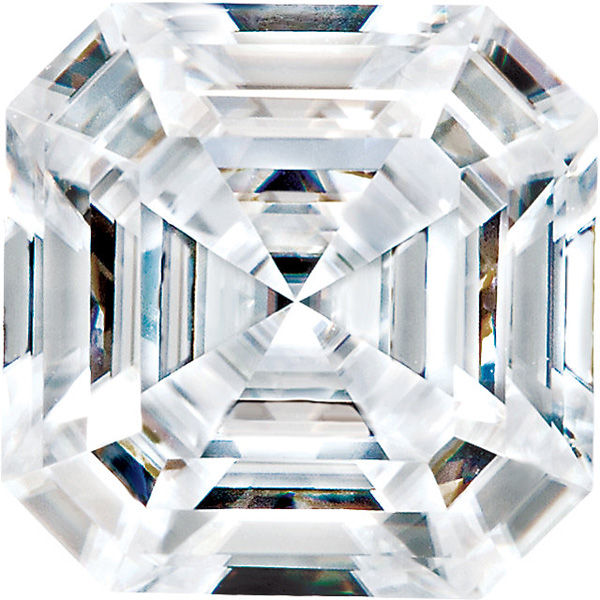 Forever One Moissanite Colorless  Asscher Cut
