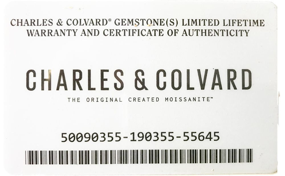 Charles & Colvard Synthetic Forever One Colorless Moissanite in Round Shape Grade AAA, 5.00 mm