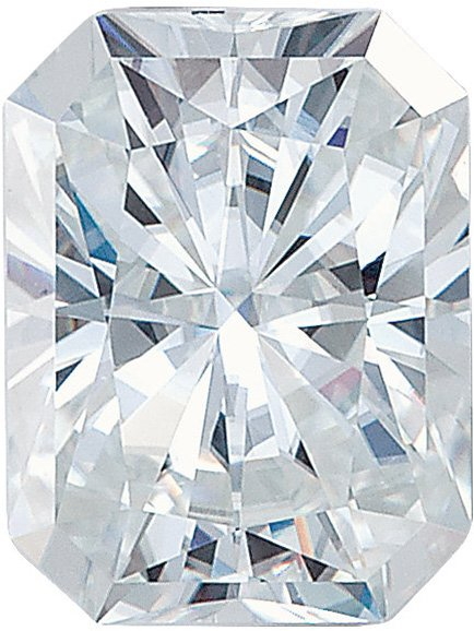 Forever One Moissanite Colorless Emerald Radiant Cut