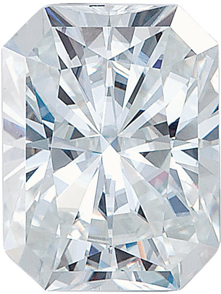 Forever One Moissanite Colorless Gemstone, Emerald Radiant Cut in 8.0 x 6.0 mm