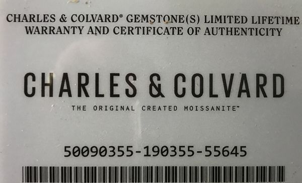 Synthetic Forever One Colorless Moissanite Gemstone by Charles & Colvard in Round Shape Grade AAA, 8.00 mm