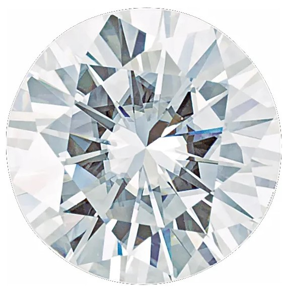 Forever One Moissanite DEF Colorless Round Cut