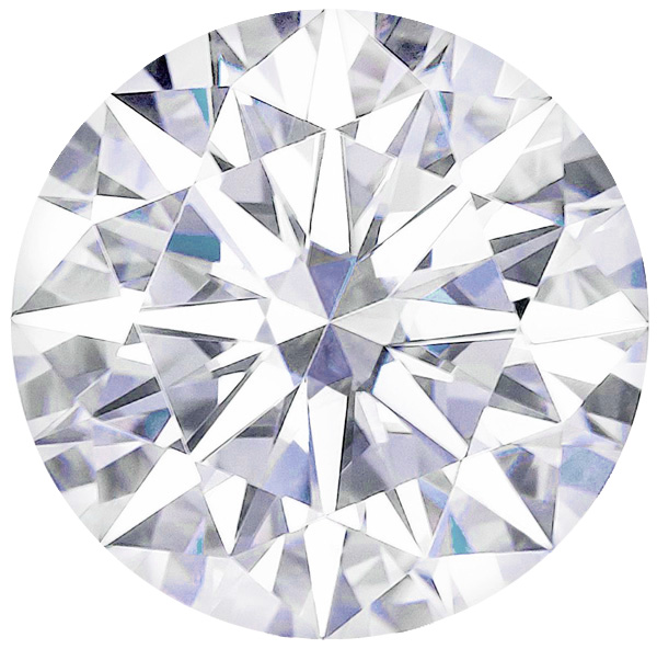 Forever One Moissanite DEF Colorless Round Hearts & Arrows Cut