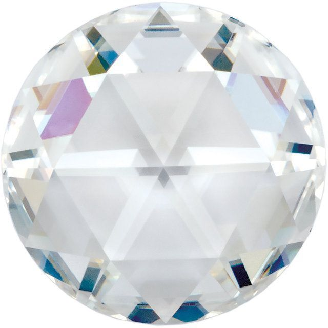 Lab Created Genuine Moissanite Gemstone in AAA Grade Round Rose Cut, 7.00 mm