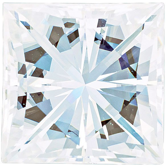 Forever One Moissanite Colorless Square Brilliant Cut